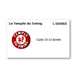 Carte 1h à l'année 2018/2019 - Cours de West Coast Swing Confirmé - Mouvements - Attitudes - Musicalité à Paris Danse St...