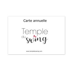 Carte 1h/semaine 2019/2020 - Cours de Bebop Intermédiaire/Avancé à La Huchette Lundi 18h50-19h50  (Année complète)