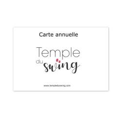 Carte 1h/semaine 2019/2020 - Cours de West Coast Swing Débutant à Studio de Courbevoie Lundi 19h30-20h30  (Année complète)