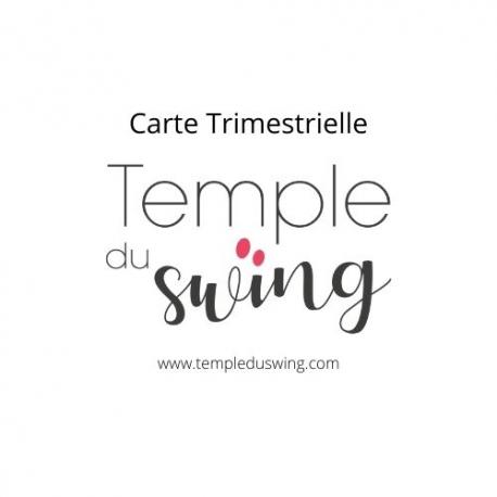 Carte Trimestrielle 2021/2022 - Cours de Bebop Confirmé à La Grotte Mardi 19h30 - 20h30  (1er trimestre)